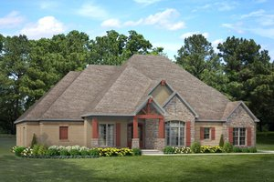 Craftsman Exterior - Front Elevation Plan #17-3391