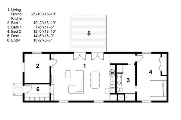 House Blueprint - Ranch Floor Plan - Main Floor Plan #497-55