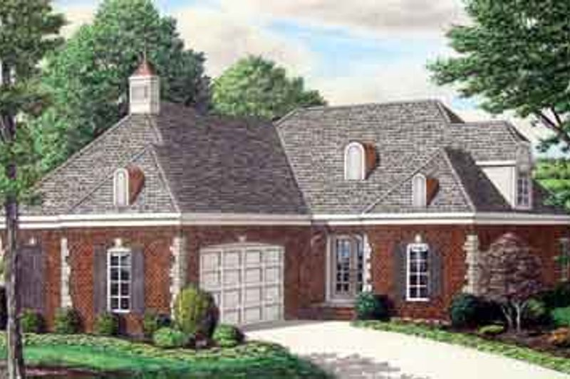 Southern Exterior - Front Elevation Plan #34-186 - Houseplans.com