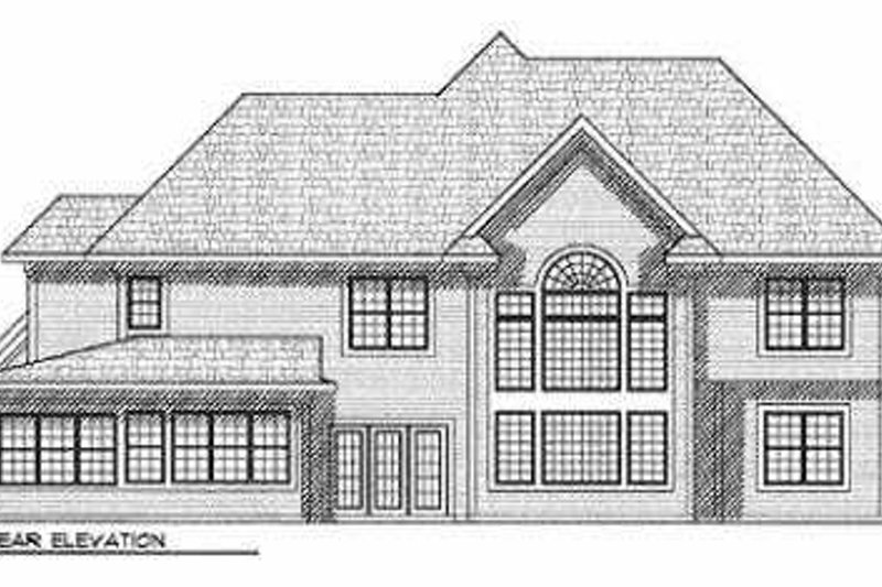 Traditional Exterior - Rear Elevation Plan #70-554 - Houseplans.com