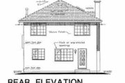 European Style House Plan - 4 Beds 2.5 Baths 1684 Sq/Ft Plan #18-224 Exterior - Rear Elevation