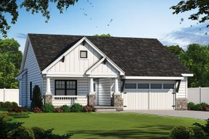 Cottage Exterior - Front Elevation Plan #20-2193