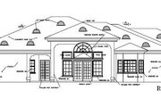 Adobe / Southwestern Style House Plan - 3 Beds 2 Baths 2548 Sq/Ft Plan #1-602 Exterior - Rear Elevation