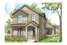 Dream House Plan - Mediterranean Exterior - Front Elevation Plan #124-903