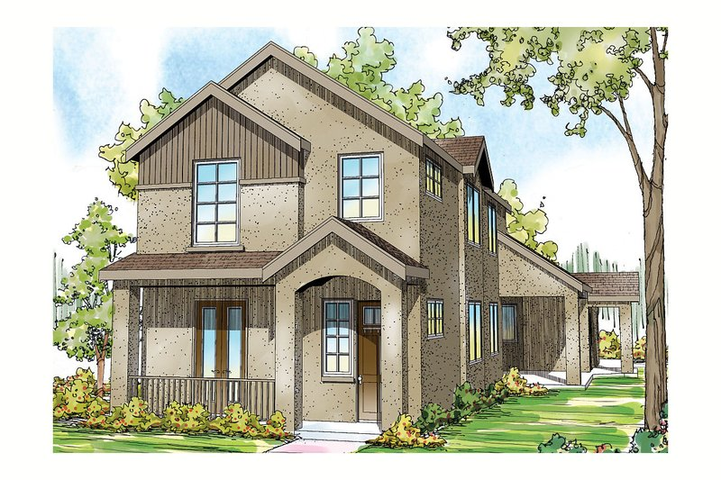 Mediterranean Exterior - Front Elevation Plan #124-903 - Houseplans.com