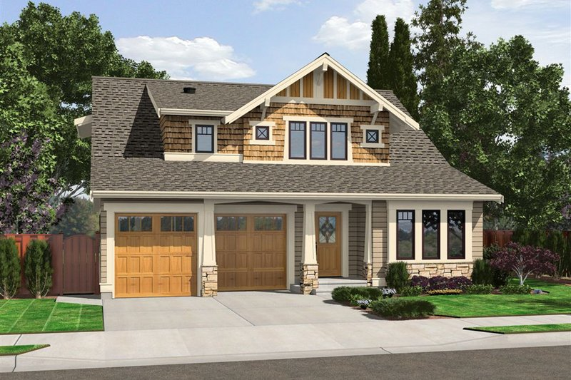 Craftsman Exterior - Front Elevation Plan #132-209