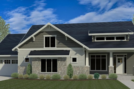 Country Exterior - Front Elevation Plan #920-14