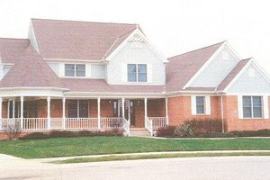 Country Exterior - Front Elevation Plan #421-152