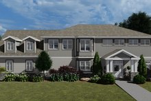 Craftsman Exterior - Front Elevation Plan #1060-53