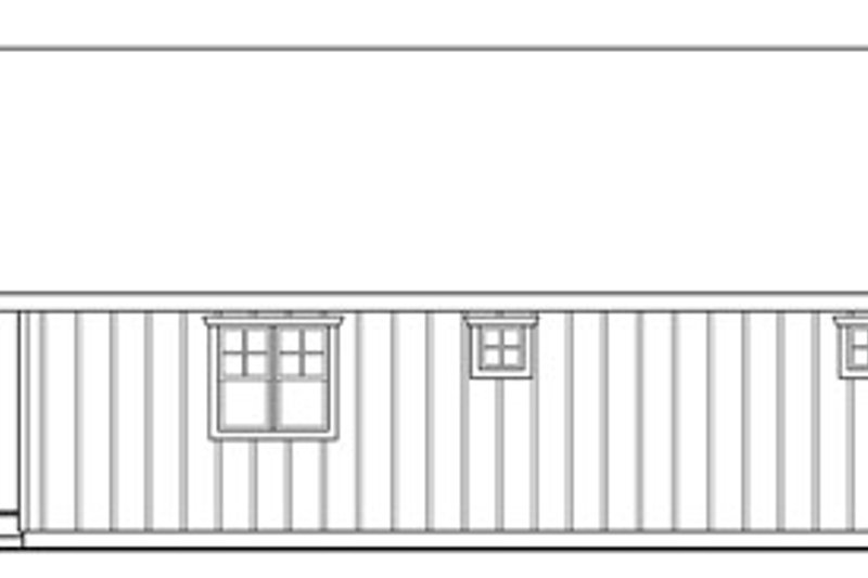 Craftsman Exterior - Rear Elevation Plan #124-789 - Houseplans.com