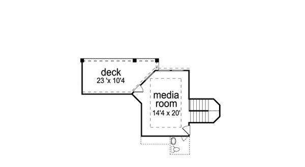 European Floor Plan - Upper Floor Plan Plan #84-618