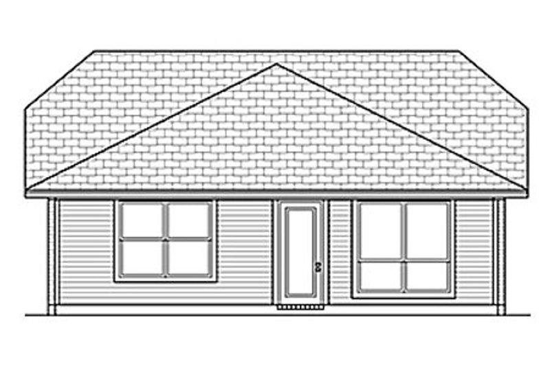 Cottage Exterior - Rear Elevation Plan #84-453 - Houseplans.com