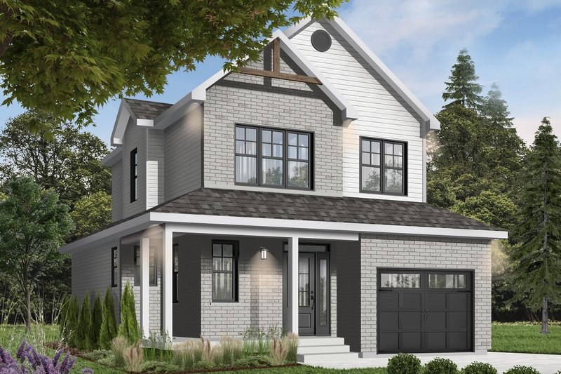 Architectural House Design - Country Exterior - Front Elevation Plan #23-2119