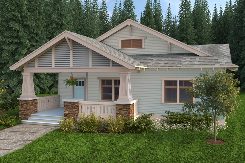 Craftsman Style House Plan - 3 Beds 2.5 Baths 1833 Sq/Ft Plan #434-4 Photo