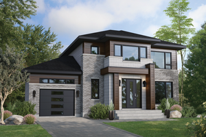 Contemporary Exterior - Front Elevation Plan #25-4891