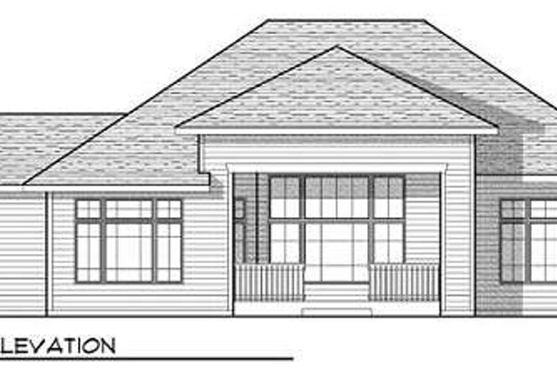 Craftsman Exterior - Rear Elevation Plan #70-923 - Houseplans.com