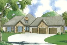 Home Plan - European Exterior - Front Elevation Plan #923-56