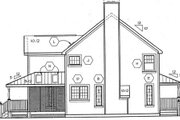 Country Style House Plan - 4 Beds 2.5 Baths 1982 Sq/Ft Plan #312-470 Exterior - Rear Elevation