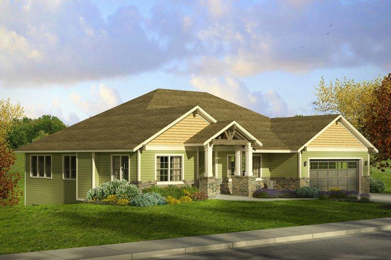 Craftsman Exterior - Front Elevation Plan #124-1002