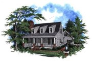 Country Style House Plan - 3 Beds 2.5 Baths 1543 Sq/Ft Plan #41-115 Exterior - Front Elevation
