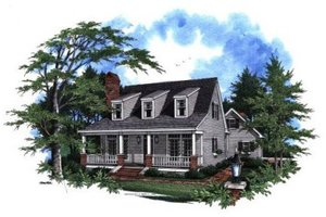 House Plan Design - Country Exterior - Front Elevation Plan #41-115