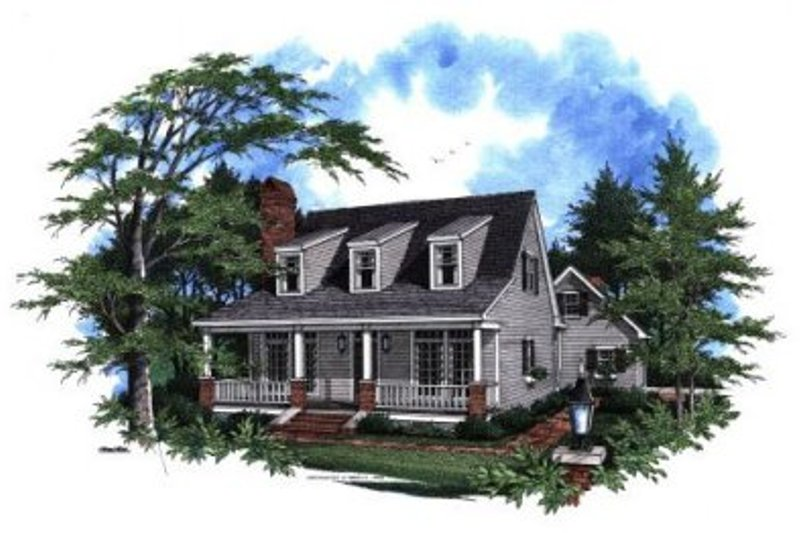 Country Exterior - Front Elevation Plan #41-115