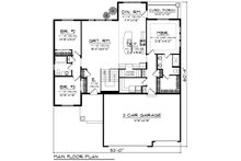 Ranch Floor Plan - Main Floor Plan Plan #70-1243