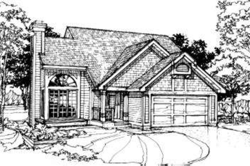Exterior - Front Elevation Plan #320-134