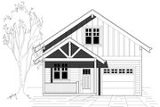 Craftsman Style House Plan - 3 Beds 2 Baths 1235 Sq/Ft Plan #423-34 Exterior - Front Elevation