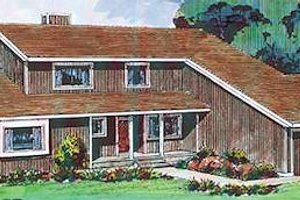 Contemporary Exterior - Front Elevation Plan #320-395