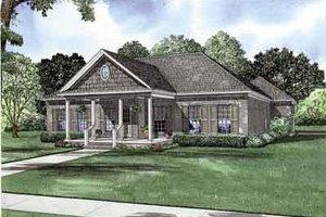Southern Exterior - Front Elevation Plan #17-2156