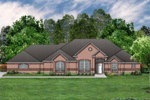 Dream House Plan - Traditional Exterior - Front Elevation Plan #84-378