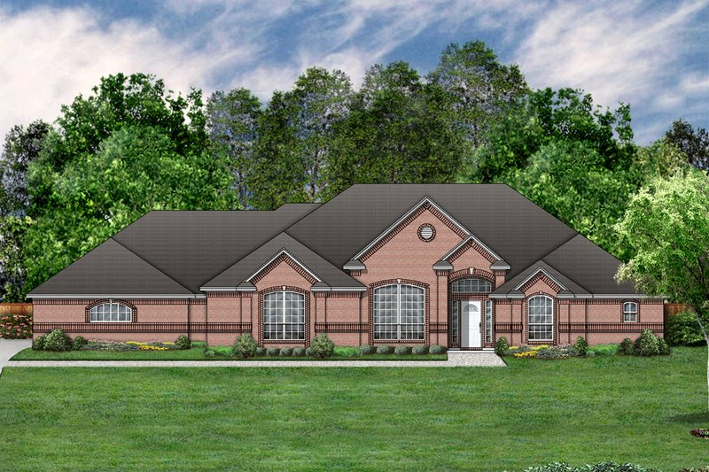 Traditional Exterior - Front Elevation Plan #84-378 - Houseplans.com
