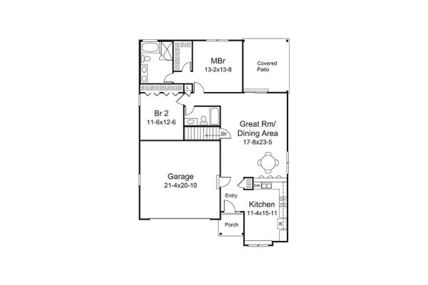 Ranch Floor Plan - Main Floor Plan Plan #57-647