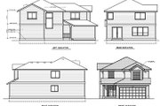 Traditional Style House Plan - 3 Beds 2.5 Baths 1780 Sq/Ft Plan #100-413 Exterior - Rear Elevation
