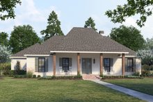 House Blueprint - Southern Exterior - Front Elevation Plan #1074-37