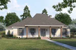 Home Plan - Southern Exterior - Front Elevation Plan #1074-37