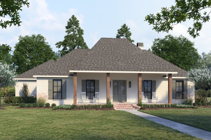 Dream House Plan - Southern Exterior - Front Elevation Plan #1074-37