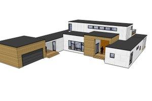 Modern Exterior - Front Elevation Plan #909-4
