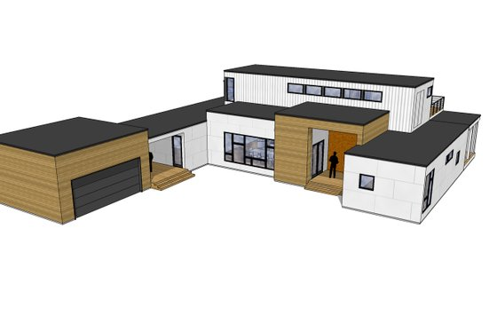 Modern Exterior - Front Elevation Plan #909-4