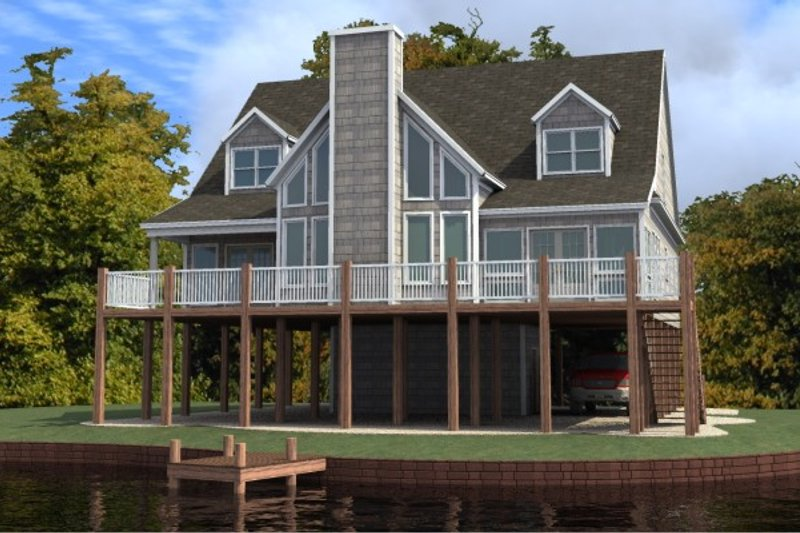 Contemporary Style House Plan - 4 Beds 3.5 Baths 2444 Sq/Ft Plan #63-215 Exterior - Front Elevation