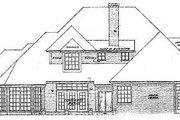 European Style House Plan - 5 Beds 4.5 Baths 3320 Sq/Ft Plan #310-228 Exterior - Rear Elevation