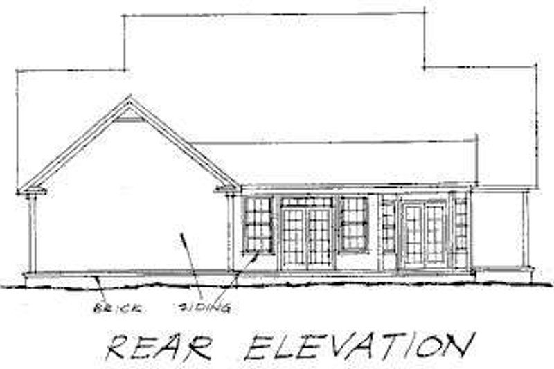 Country Exterior - Rear Elevation Plan #20-235 - Houseplans.com
