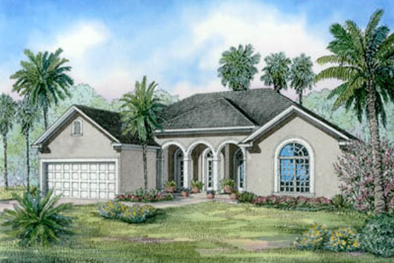 House Plan Design - Mediterranean Exterior - Front Elevation Plan #17-1139
