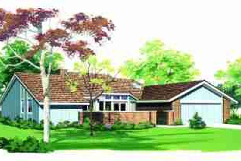 House Blueprint - Ranch Exterior - Front Elevation Plan #72-305