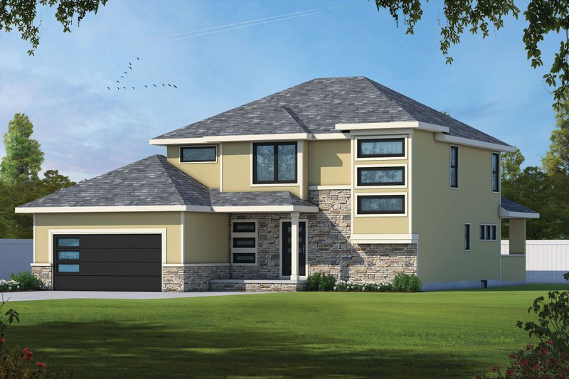 Dream House Plan - Contemporary Exterior - Front Elevation Plan #20-2476