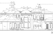 Mediterranean Style House Plan - 6 Beds 5 Baths 6568 Sq/Ft Plan #135-202 Exterior - Rear Elevation