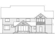 Dream House Plan - Craftsman Exterior - Rear Elevation Plan #124-1000
