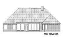 Dream House Plan - European Exterior - Rear Elevation Plan #84-380