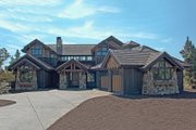 Craftsman Style House Plan - 4 Beds 4.5 Baths 3738 Sq/Ft Plan #892-1 Exterior - Front Elevation